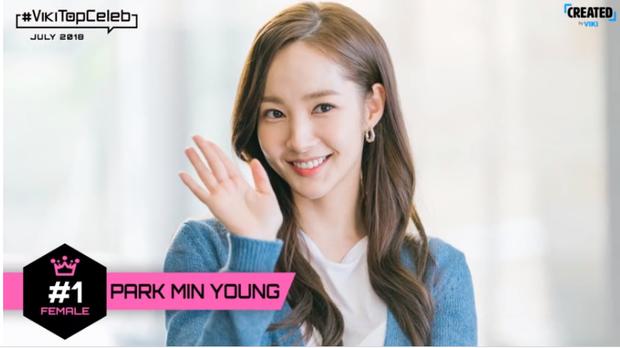 """Park Min Young tiếp tục """"yên vị"""" dẫn đầu hai tháng liền."""