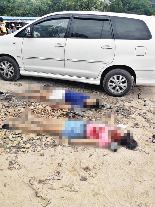 Hiện trường nơi Paweena Namueangruk và bạn của cô bị bắn chết.
