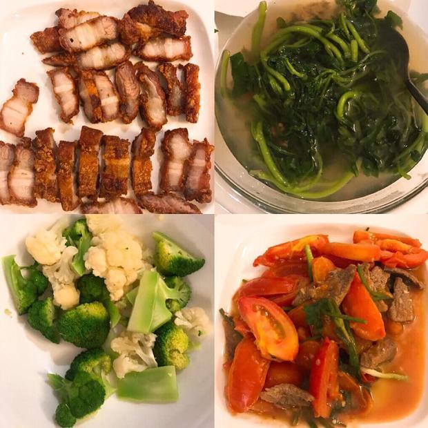 Những món ăn Hoa hậu Đặng Thu Thảo tự tay chế biến.