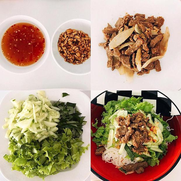 """""""Lễ ở nhà tiếp tục nấu ăn tập 2… Bún thịt bò xào"""", Đặng Thu Thảo hào hứng."""