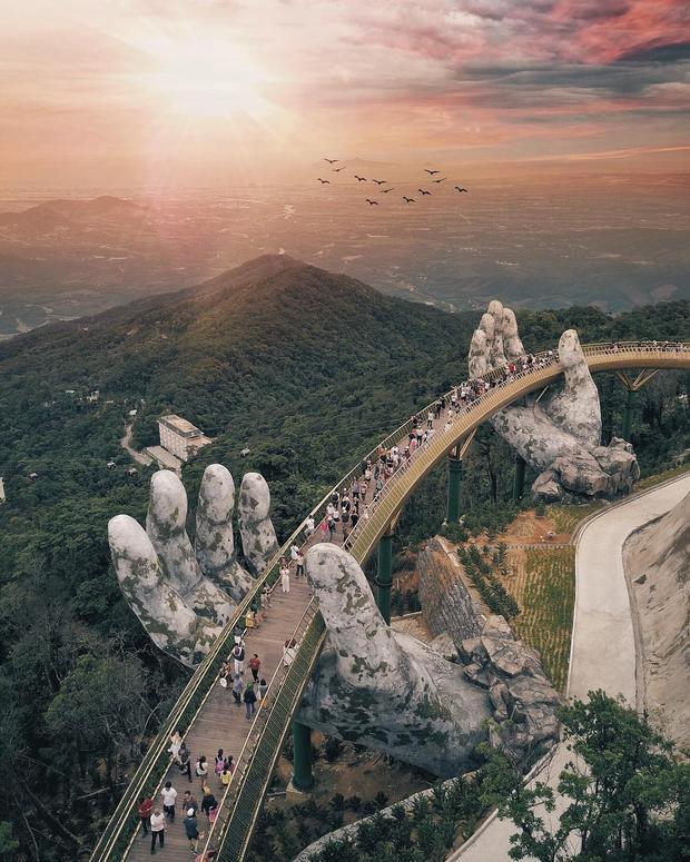Bức ảnh Cầu Vàng được đánh giá là đẹp nhất