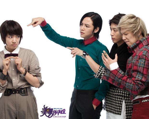 """Phim """"Cô nàng đẹp trai"""" có sự tham gia của Park Shin Hye, Jang Geun Suk, Lee Hong Ki và Jung Young Hwa."""