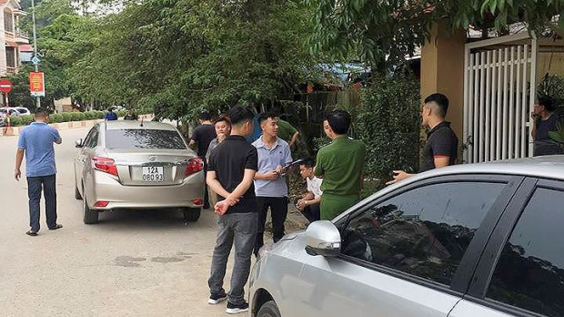 Lực lượng chức năng có mặt tại hiện trường. Ảnh: báo Tiền Phong.