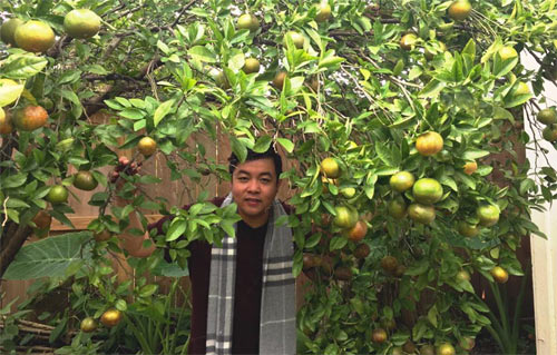 Bố Quang Lê là người chăm sóc khu vườn chủ yếu, nhưng ngoài những giờ bận rộn, ca sĩ cũng dành thời gian chăm sóc vườn như là một cách nghỉ ngơi thư giãn thật hiệu quả.