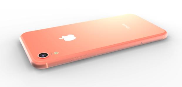 Một chiếc iPhone màu hồng nhạt. Trước đây, Apple từng ra mắt chiếc máy cũng có sắc hồng mà hãng này gọi là vàng hồng (Rose Gold).