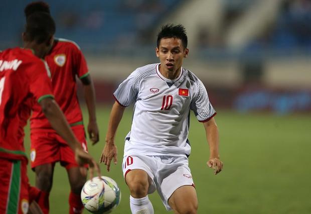 Hùng Dũng phát huy được vai trò trong trận đấu với U23 Oman.