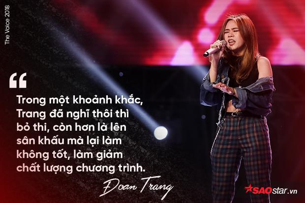 """Đoan Trang luôn nội lực trong giọng hát và mạnh mẽ trong lối diễn xuất. Sự 'pha trò' này giúp Đoan Trang chinh chiến mà không sợ bất cứ """"kỳ phùng địch thủ"""" nào."""