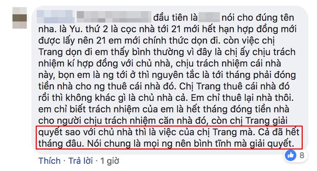 Người trong cuộc lên tiếng cho rằng Thiên Trang hành xử không sai.