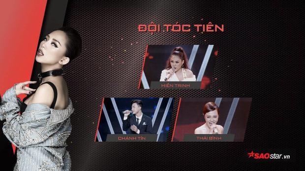 Ba chiến binh Team Tóc Tiên bước vào vòng liveshow.