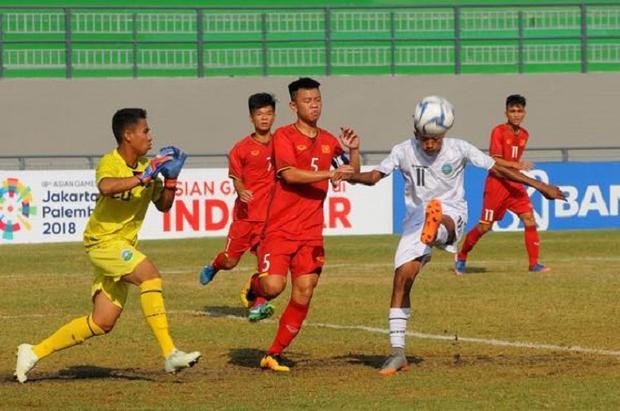 U16 Việt Nam có bàn gỡ hòa từ pha đá bồi của Thanh Trung. Ảnh: Vietnamnet. vn.