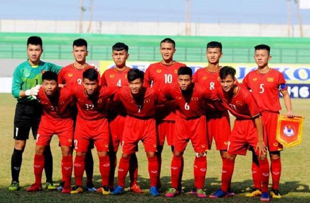 U16 Việt Nam thi đấu đầy quyết tâm. Ảnh: Vietnamnet.vn