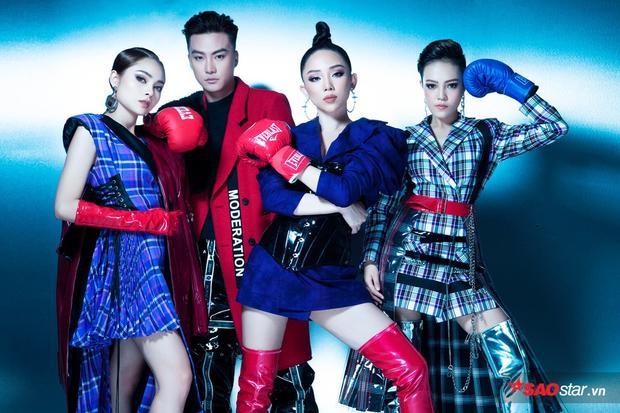 Tung bộ ảnh mới với những chiếc găng tay boxing, team Tóc Tiên ẩn ý những đòn lợi hại vòng liveshow?