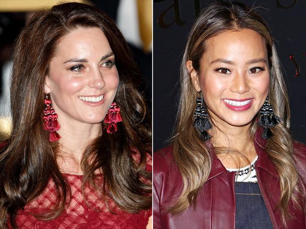 Công nương Kate Middleton và diễn viên Jamie Chung cũng cực kì chuộng mẫu bông tai này.