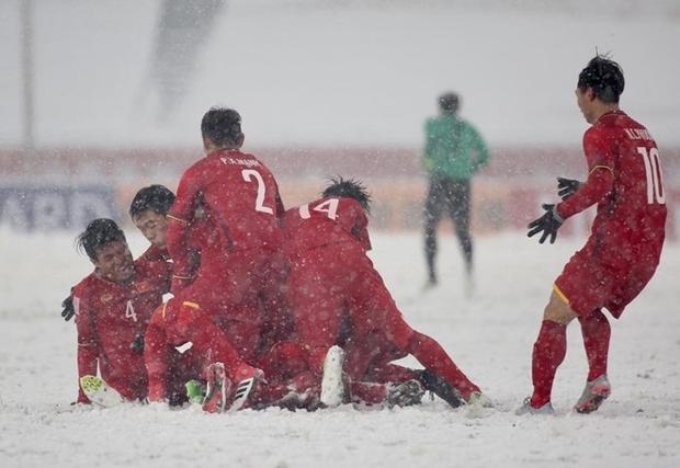 Quang Hải cùng U23 Việt Nam đã có một khúc bi tráng trên sân Thường Châu. Ảnh :Soha.