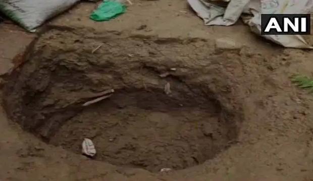 Nơi Tara bị chôn. Ảnh: ANI