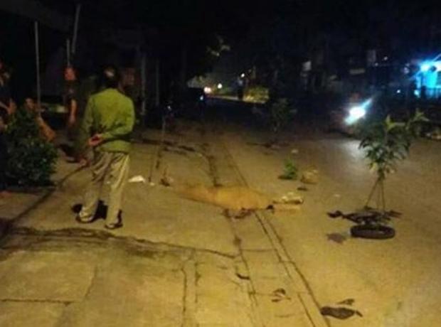Khu vực phát hiện hai thanh niên gặp nạn.