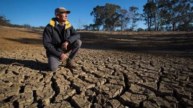 Hạn hán nghiêm trọng khiến đất trồng bị nứt nẻ và người dân sống trong khu vực này đều mong có mưa đổ xuống.