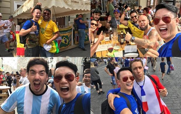 Hoàng Bách giao lưu với các fan đến từ Mexico, Croatia… Anh dự định cổ vũ Tây Ban Nha trong trận đấu loại trực tiếp với chủ nhà Nga. Sau đó ca sĩ quyết định thành một cổ động viên trung lập vì quá xúc động trước tình cảm và sự chu đáo của người Nga trong việc tổ chức giải, đón tiếp du khách. Cùng Hoàng Lê Giang và Hoàng Bách điểm lại những khoẳng khắc ấn tượng mùa FIFA World Cup 2018