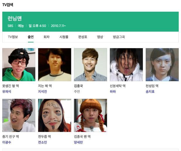 Hồ sơ các thành viên khác đã bị Kim Jong Kook thay đổi.