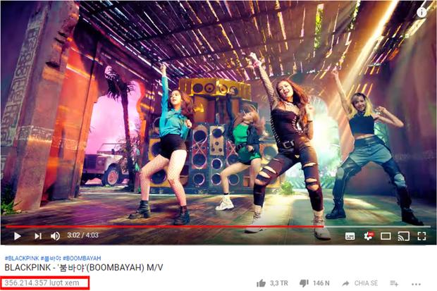 BOOMBAYAH đạt được 356.2 triệu lượt xem sau 2 năm.
