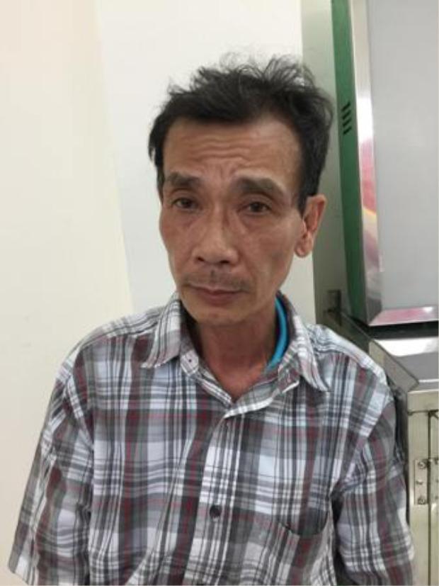 Nghi can Đinh Trường Huấn tại cơ quan công an. Ảnh: báo Thừa Thiên Huế.