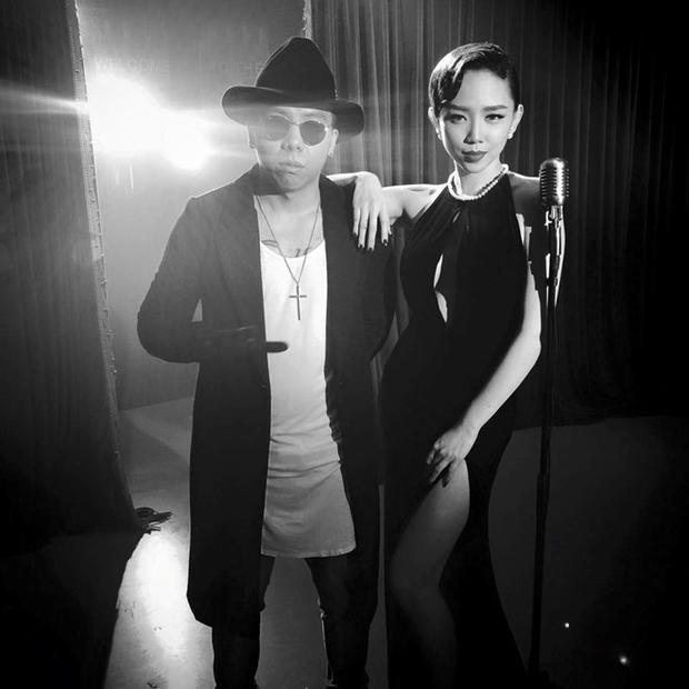 Hình ảnh gợi cảm của Tóc Tiên bên cạnh Hoàng Touliver cool ngầu trong MV.