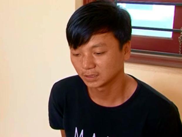 Nguyễn Viết Lực tại cơ quan điều tra. Ảnh ANTĐ.
