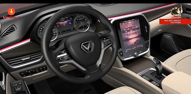 Nội thất bên trong chiếc xe được cho là SUV của Vinfast.