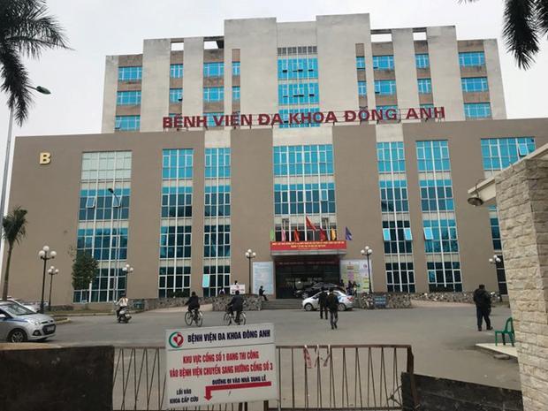 Bệnh viện Đa khoa Đông Anh (Hà Nội) - nơi tiêm nhầm thuốc khiến bé gái tử vong.