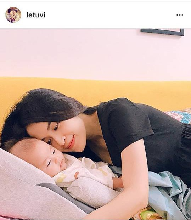 Tháng 6/2018, Tú Vi từng chia sẻ hình ảnh con gái nhưng mau chóng xoá sau vài phút đăng tải.
