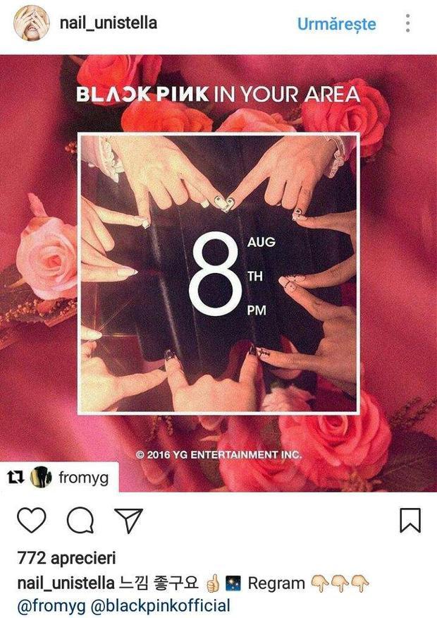 Bộ nail cá tính của BLACKPINK nhá hàng ngày ra mắt năm 2016.