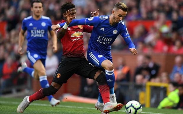 M.U thi đấu kém thuyết phục trước Leicester City. Ảnh: Twitter.