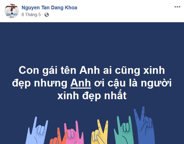 """Status mà Đăng Khoa """"nịnh bợ"""" Jun."""