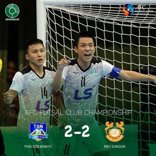 Văn Vũ gỡ hòa cho Thái Sơn Nam. Ảnh: Tạp chí Futsal.