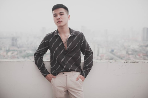 Đình Quang - bạn trai của Thu Trang. Mặc lời dèm pha, người yêu điển trai của nữ sinh có vòng ngực hơn 1m lên tiếng thừa nhận mối quan hệ