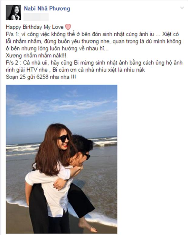 """Trên trang cá nhân, cô viết: """"Happy birthday my love""""."""