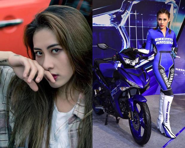 Bảo Khanh đời thường dịu dàng và Bảo Khanh cá tính trong đồng phục Yamaha Exciter Angels. Con gái đi xe tay côn là 'gái man'? Hãy nhìn 4 thiên thần của Yamaha để biết bạn đã sai!