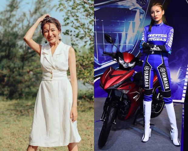 """Thanh Phương đẹp trong trẻo trong đời thường và cực """"ngầu"""" khi hóa thân Yamaha Exciter Angel. Con gái đi xe tay côn là 'gái man'? Hãy nhìn 4 thiên thần của Yamaha để biết bạn đã sai!"""
