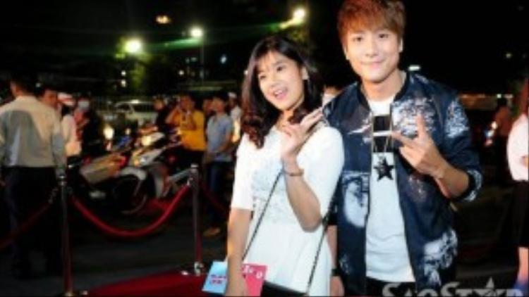 Hoàng Yến Chibi và hot boy Huy Nam - thành viên nhóm La Thăng - tiếp tục xuất hiện chung.