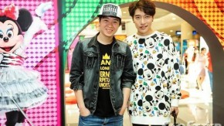 Đôi bạn nhạc sĩ Châu Đăng Khoa và Phạm Toàn Thắng.