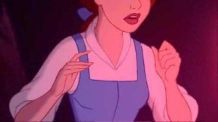 """Nàng Belle trong """"Người đẹp và quái vật"""" quá hoàn hảo trong bức hình này."""