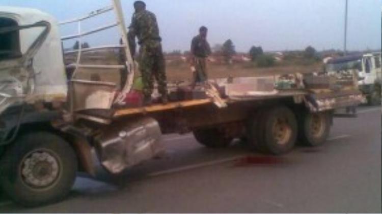 Hiện trường vụ tai nạn thảm khốc.