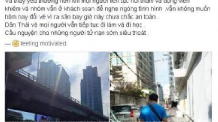 Chia sẻ trên Facebook của stylist Nguyễn Thiện Khiêm.