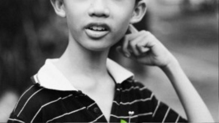 Bé Trịnh Minh Thuận, 12 tuổi, hiện là học sinh trường THCS Lê Quý Đôn (Q7).