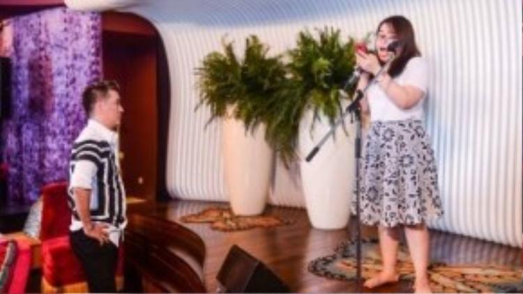 Từng trải qua giai đoạn tự ti vì trong đội của Mr.Đàm toàn thí sinh có ngoại hình bắt mắt, Bảo Trâm đang cố gắng hoàn thiện giọng hát để thu hút khản giả bằng tài năng của mình.