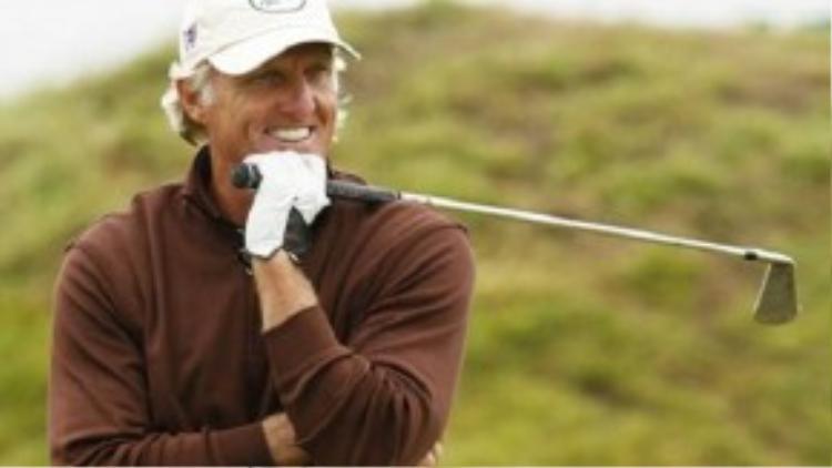 Cựu golf thủ Greg Norman, 60 tuổi, cũng có thu nhập 16 triệu USD giống như Pele.