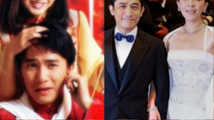 Tăng Hoa Thiên (trái) từng cạch mặt Lưu Gia Linh vì Lương Triều Vỹ.