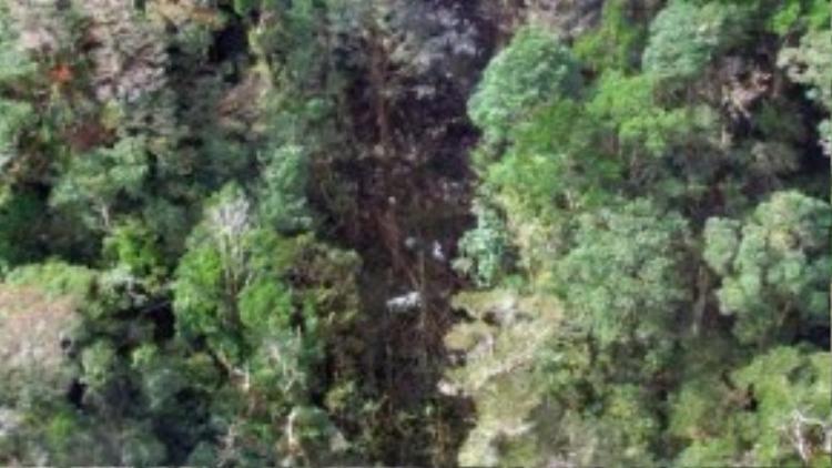 Nơi tìm thấy mảnh vỡ máy bay Indonesia bị nạn - Ảnh: AFP