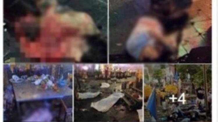Những hình ảnh thương tâm, phản cảm được nhiều cư dân mạng Việt truyền tay nhau.