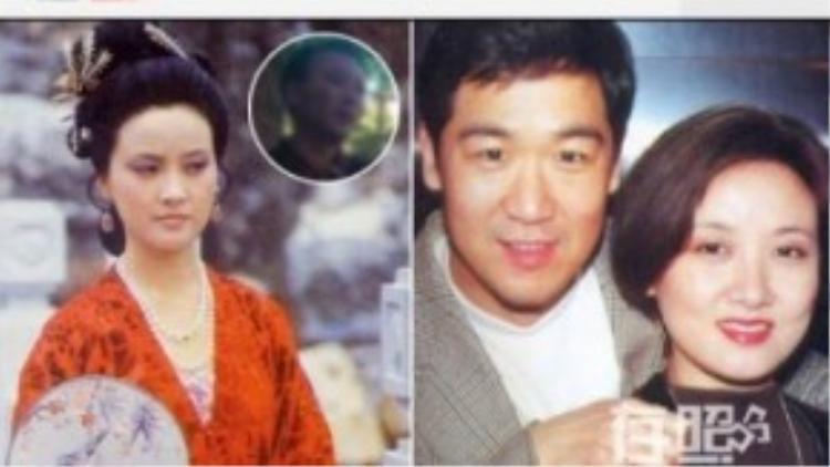 Đặng Tiệp và chồng đầu (ảnh nhỏ), cùng chồng hiện tại - Trương Quốc Lập.